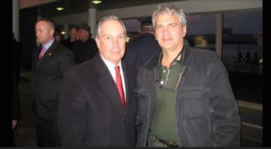 Ray Basri MD, FACP with Mayor Bloomberg in NYC after the plane crash, Miracle on Hudson